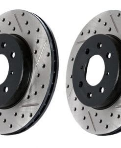 Veloster Turbo Cross Drilled and Slotted Rotors (pair) Front or Rear