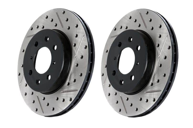 Cross Drilled Rotors >> Veloster Turbo Cross Drilled And Slotted Rotors Front Pair