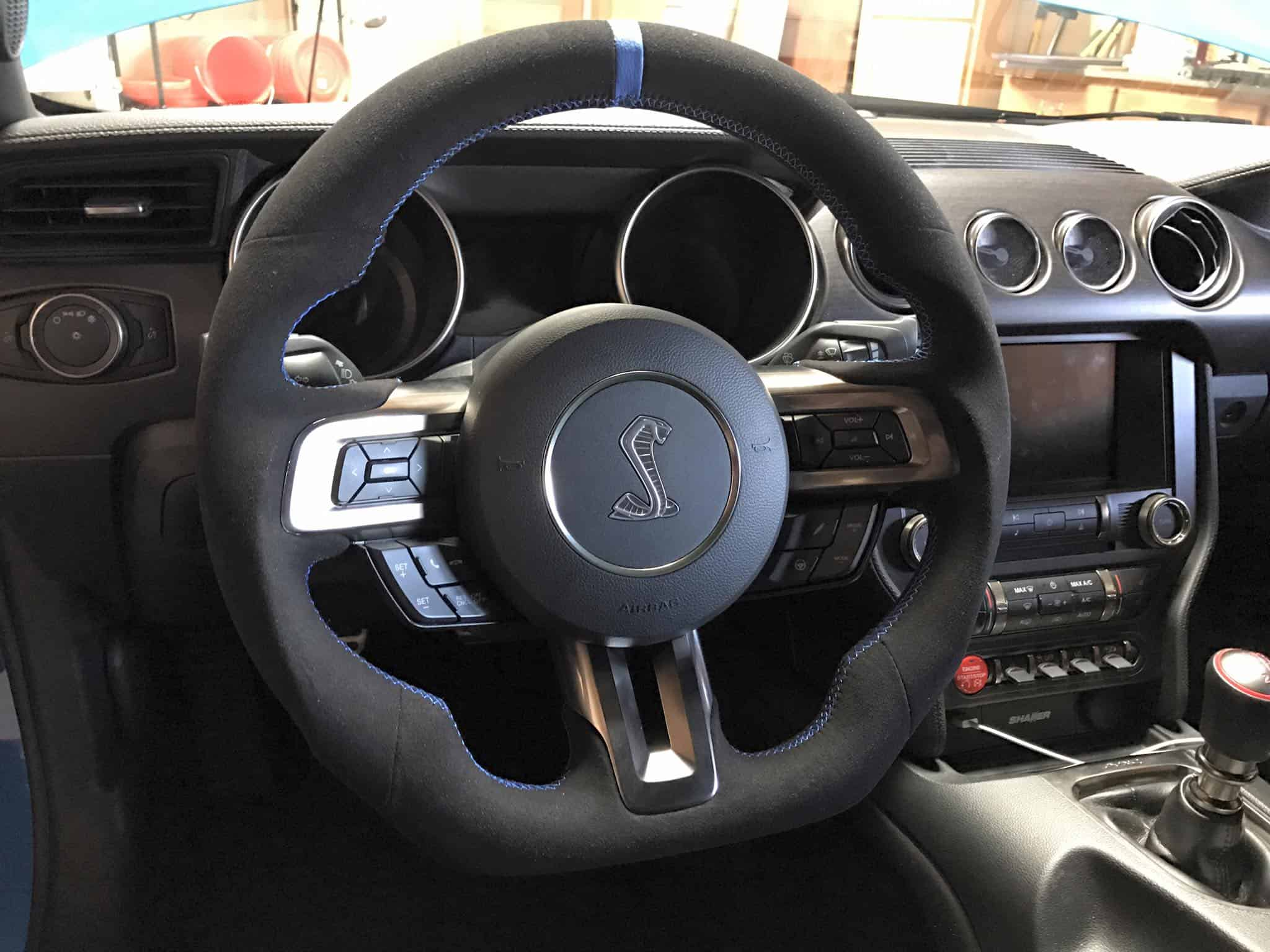 mustang fully custom steering wheel built   socal garage works