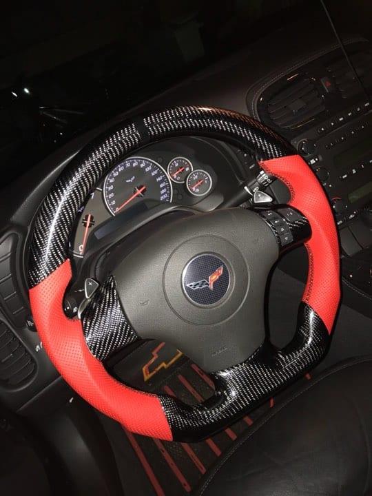 2005 2011 Zr1 Z06 C6 Corvette Carbon Fiber Custom Steering