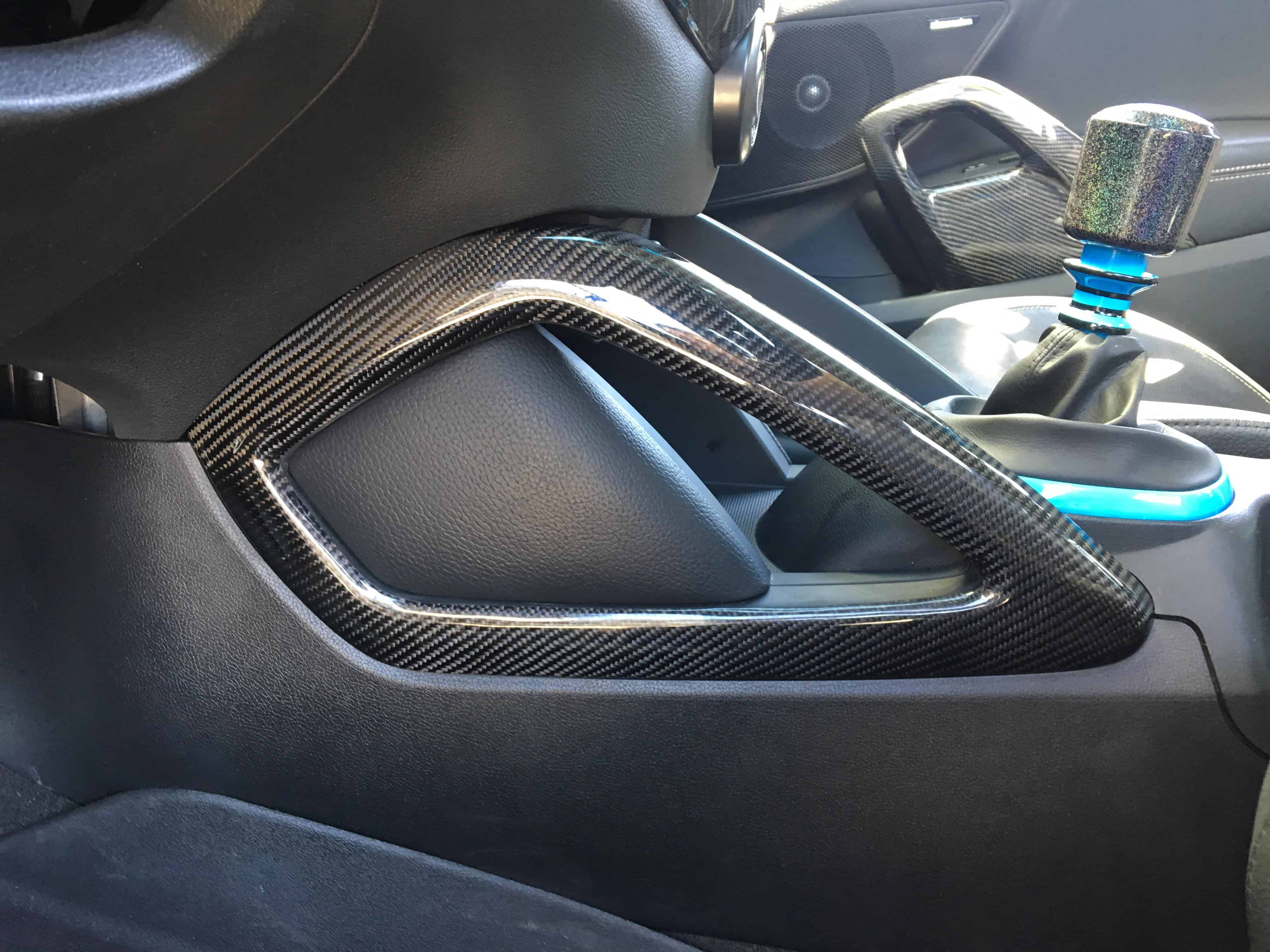 Hyundai veloster carbon fiber center console handles oem Hyundai veloster interior accessories
