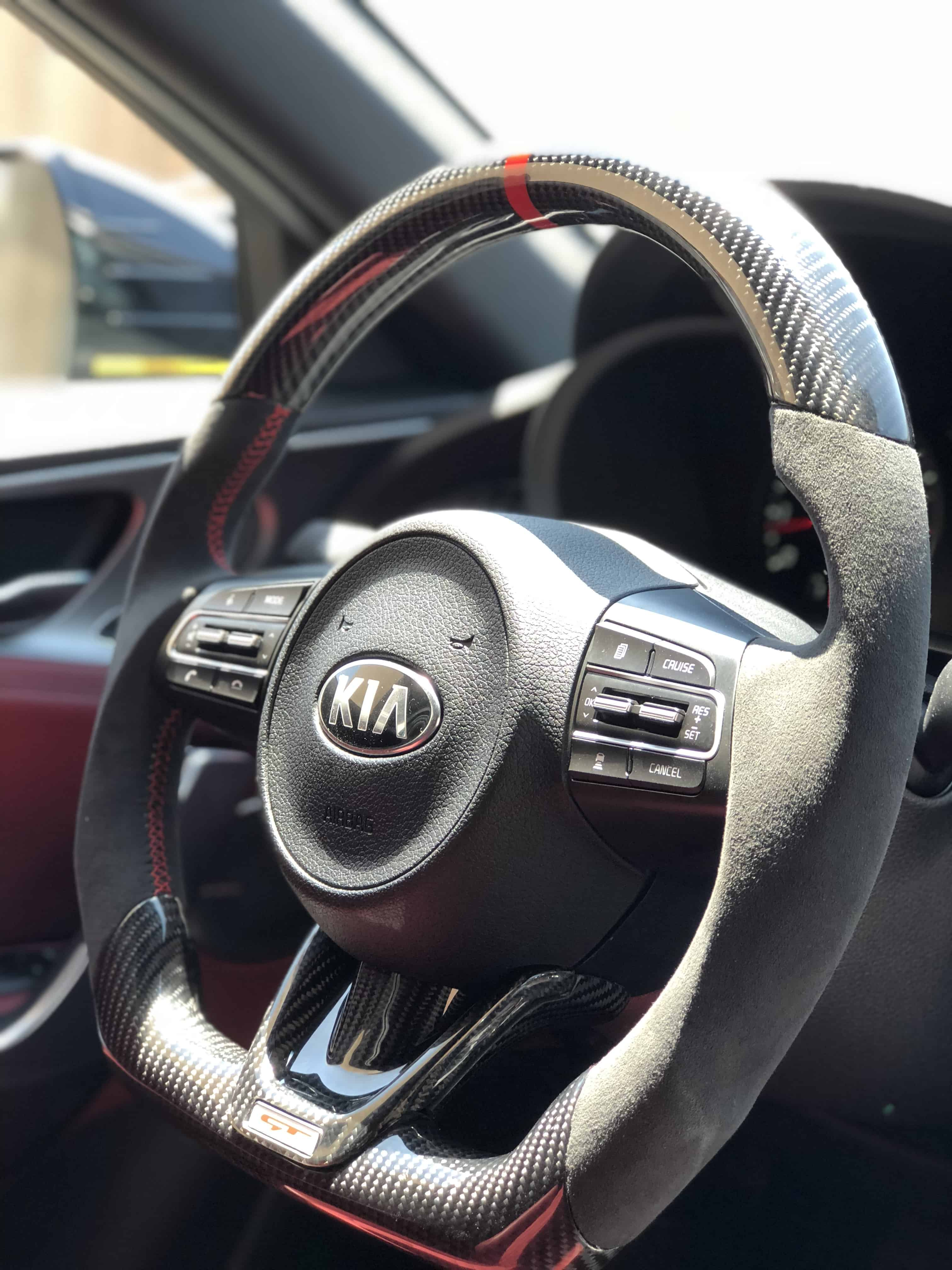 Kia Stinger Customized Steering Wheel Socal Garage Works