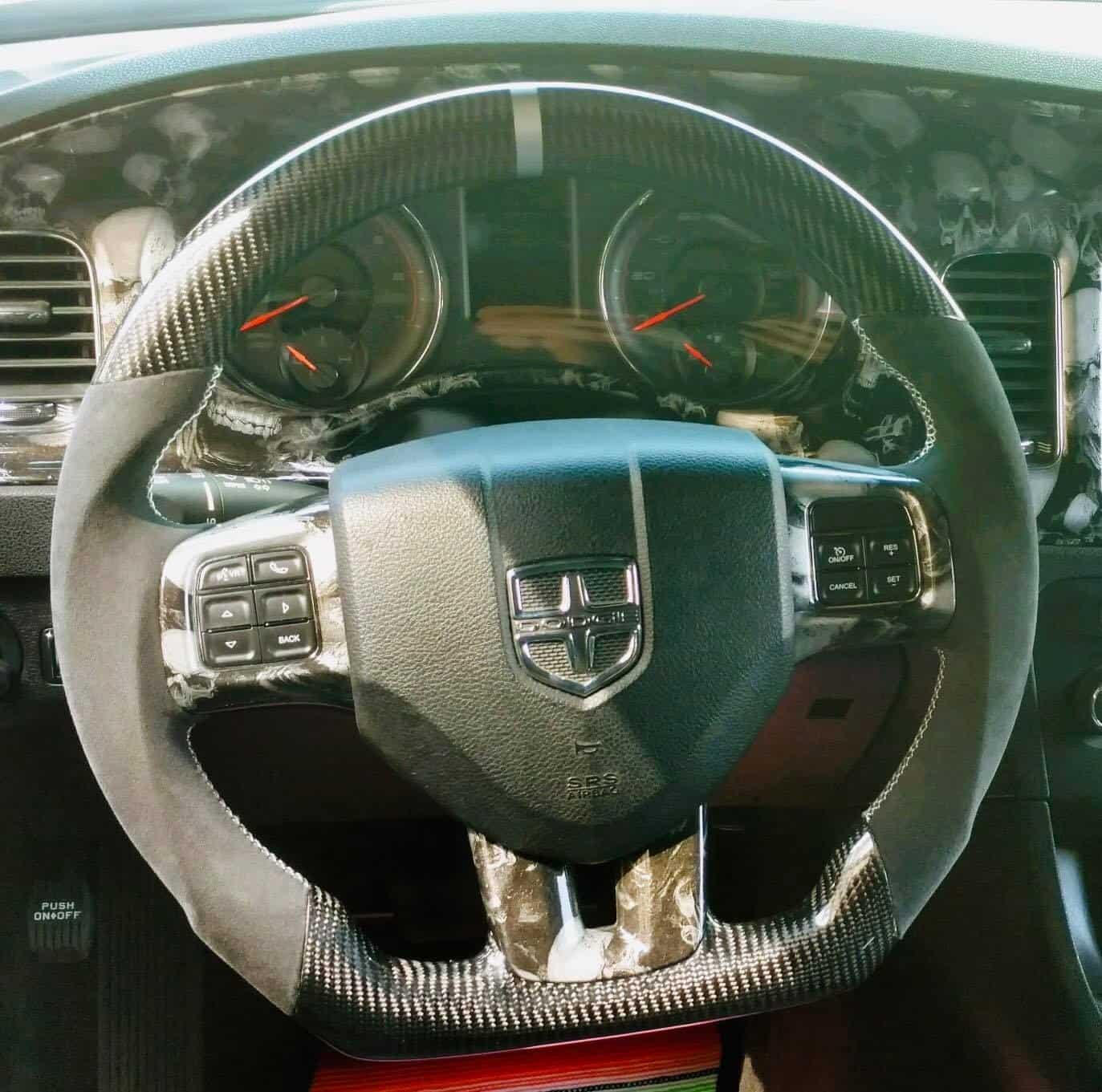 2005 2020 Dodge Charger Dodge Challenger Magnum Carbon Fiber Customized Steering Wheel Socal Garage Works