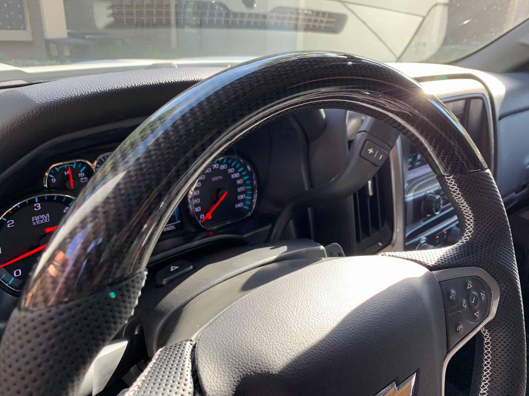 2007-2020 Chevy Silverado Carbon Fiber Steering Wheel ...