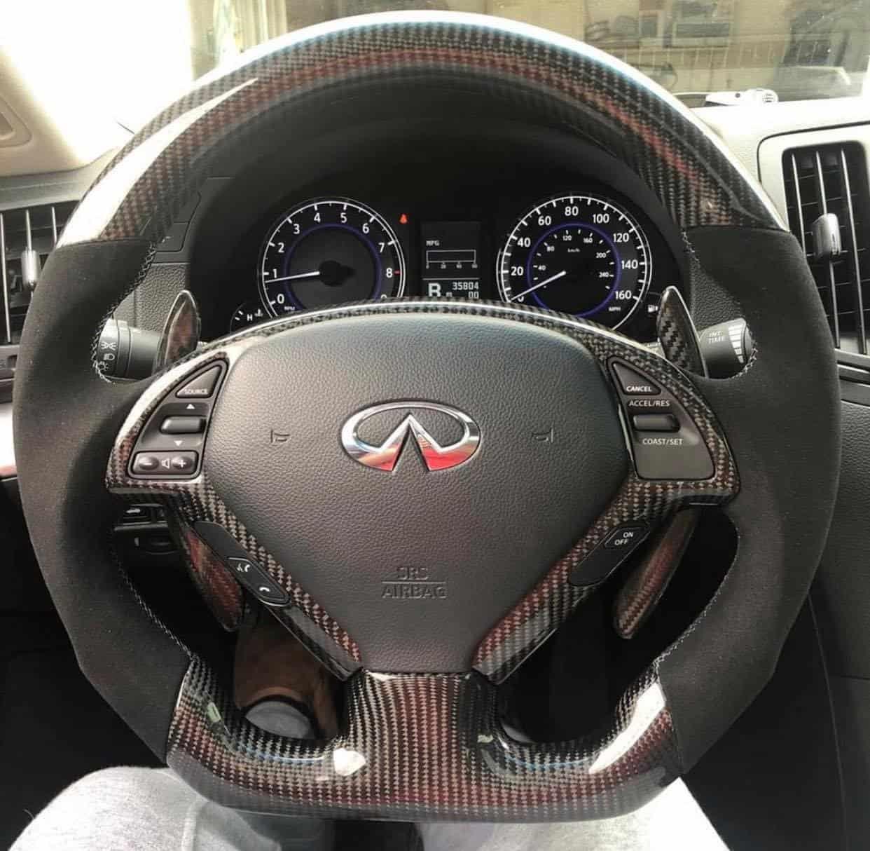 2007 2015 Infiniti G37 G37x G25 Q40 Carbon Fiber Steering Wheel Socal Garage Works