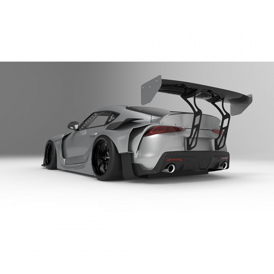 Toyota Fortuner 2020 Lexus Body Kit: 2020 HKS Premium Body Kit 2020 Toyota Supra With GT Wing